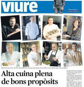 Alta cuina plena de bons propòsits, un reportatge de Cristina Jolonch per a La Vanguardia