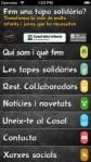 Imatge de l'aplicació de la Tapa Solidària per a mòbils