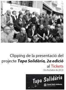 Portada del Clipping de la Tapa 2012