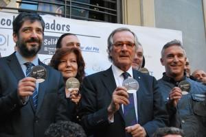 A la foto, d'esquerra a dreta: Dani Jorquera, president del Casal dels Infants, Mey Hofmann, l'alcalde de Barcelona, Sr. Xavier Trias, i Eduard Arola.