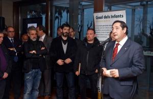 El conseller d'Agricultura Josep M Pelegrí a l'acte de cloenda de la Tapa