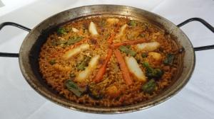 Paella de Bacalla i verdures_L'Arros
