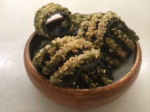Algues cruixents amb sèsam blanc torrat_Bodega1900