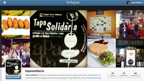 Instagram de la Tapa Solidària