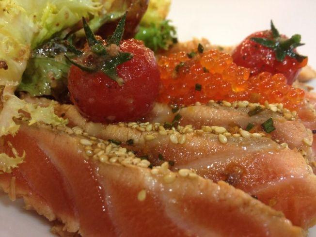 ventresca de salmó amb vinagre_Granja Elena
