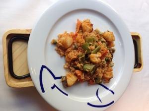 L'Arròs_Paella de bacallà i verdures