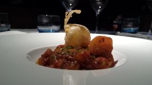BASILICO_Yema crujiente con guiso de patatas a la riojana